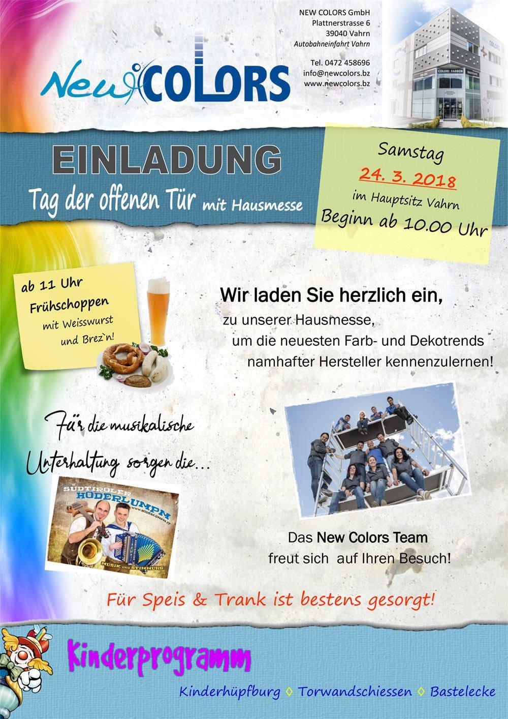 Newcolors Südtirol - Tag der offenen Tür 2018
