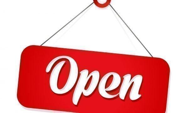 Da adesso tutto aperto!